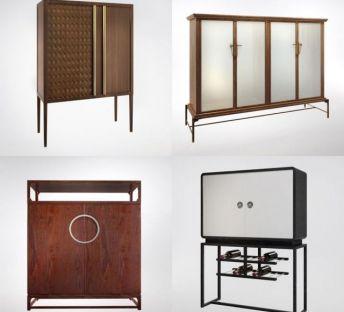现代装饰柜边柜组合
