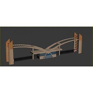 厂区大门3d模型
