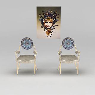 艺术单椅3d模型
