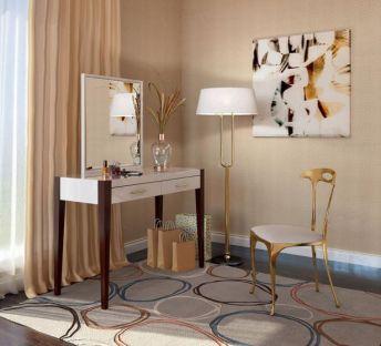 现代梳妆台椅子组合