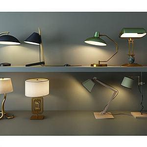 创意复古台灯模型