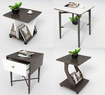 现代角几桌柜组合
