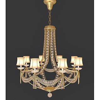 华丽水晶吊灯3d模型