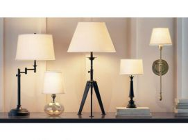 美式台灯壁灯组合模型