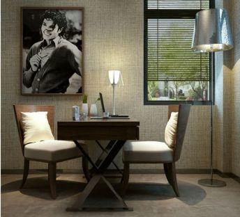 现代书桌椅台灯组合