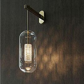 现代玻璃壁灯模型