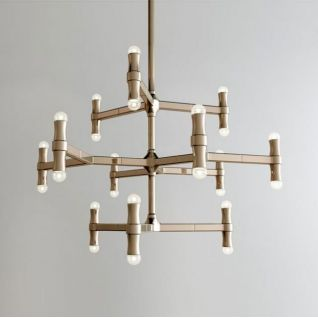 不锈钢时尚吊灯3d模型