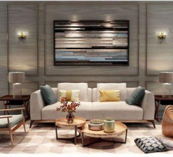 客厅温馨沙发茶几组合
