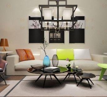 温馨休闲沙发椅子组合
