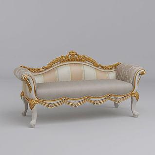 欧式经典沙发3d模型
