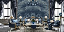 欧式客厅沙发茶几3d模型