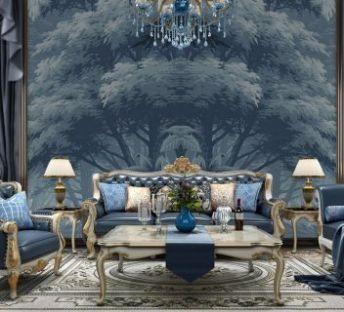 欧式客厅沙发茶几