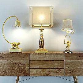 创意欧式台灯模型