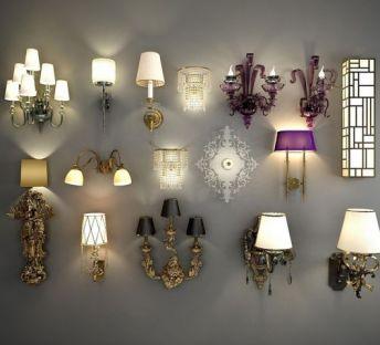 欧式奢华壁灯组合