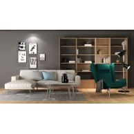 现代简约书架沙发椅组合3D模型3d模型