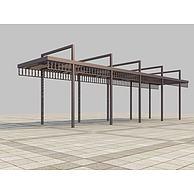 廊架3D模型3d模型