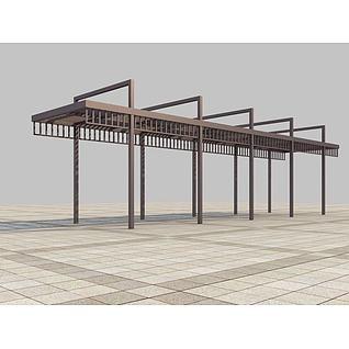 廊架3d模型