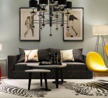 现代镂空凳沙发椅组合