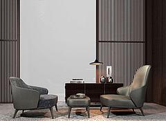 酒店休闲沙发椅3D模型3d模型