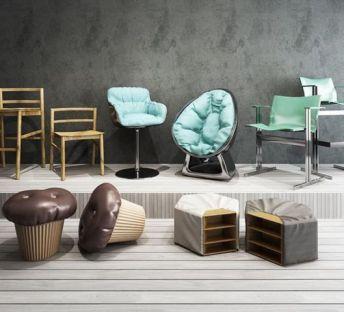 创意休闲椅蛋糕沙发凳组合