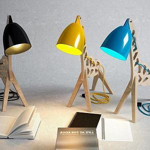 创意小马台灯模型