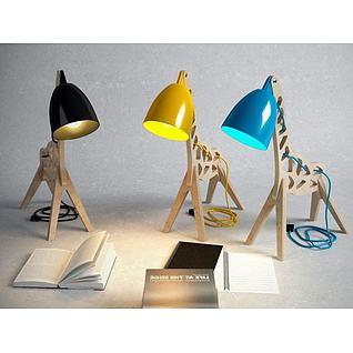 创意小马台灯3d模型
