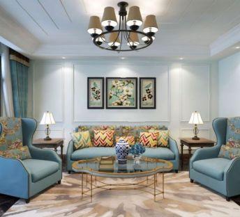 美式客厅沙发吊灯
