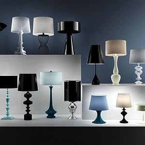 现代台灯组合模型