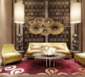 潮流沙发茶几墙饰品组合