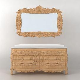 欧式古典浴室柜模型