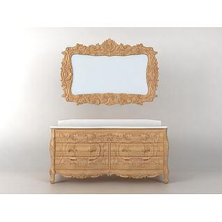 欧式古典浴室柜3d模型