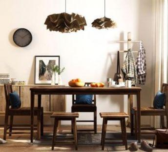 木质餐桌椅装饰柜组合