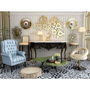 时尚沙发边几组合3d模型