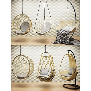 室内休闲吊椅3d模型