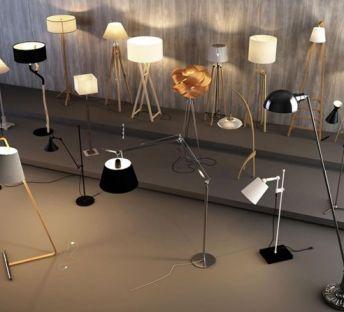 现代造型落地灯组合