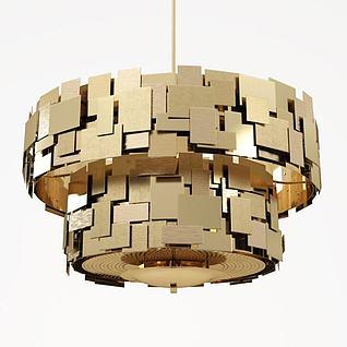创意金属吊灯3d模型