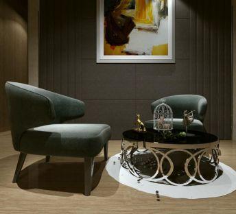 现代椅子茶几组合