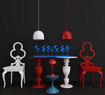 创意单椅装饰台组合
