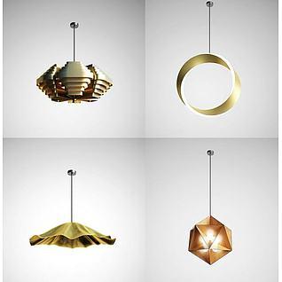 创意现代吊灯组合3d模型