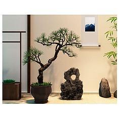 新中式松树盆景假山石摆件3D模型3d模型