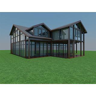 高档茶餐厅3d模型