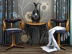 创意休闲茶桌椅模型3d模型