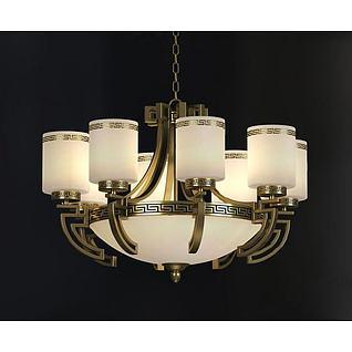 新古典吊灯3d模型3d模型