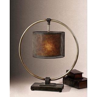新古典中式台灯3d模型