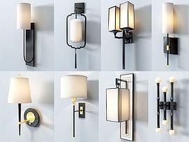 新中式壁灯模型