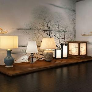 中式台灯模型