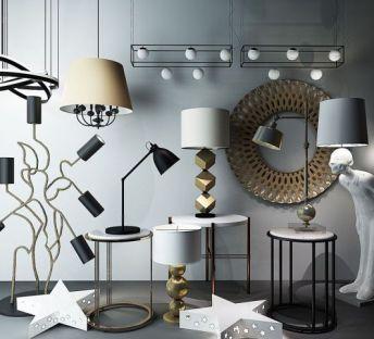 现代灯具组合
