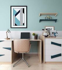 北欧书桌椅模型3d模型