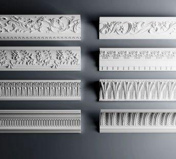 欧式角线雕花石膏构件