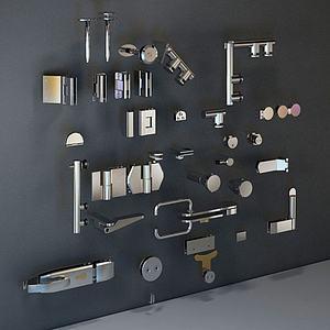 五金配件门锁模型